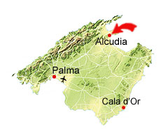 Alcudia map
