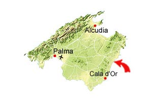 Cala Anguila map