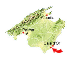 Cala Barca map