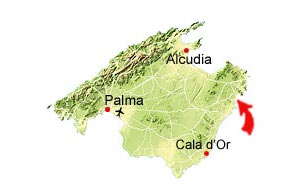 Cala Bona map