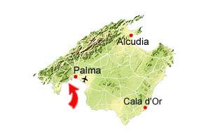Cala Comptessa map