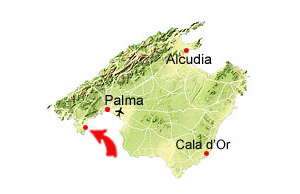 Cala Falco map