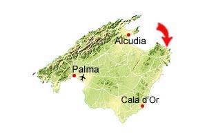 Cala Gat map