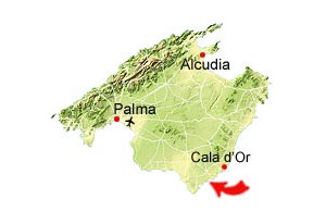 Cala Llombards map
