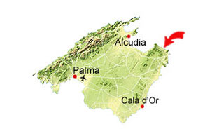 Cala Mitjana (south) map