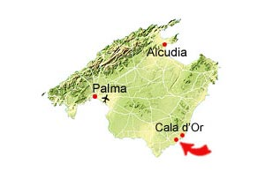 Cala Mondrago map
