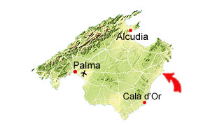 Cala Morlanda map