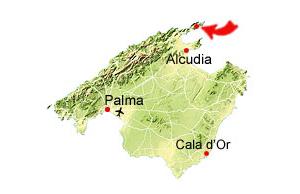 Cala Murta map