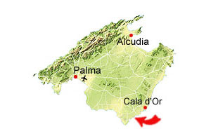 Cala s'Almunia map