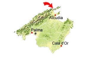 Cala San Vicente map