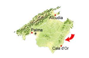 Calas de Mallorca kort