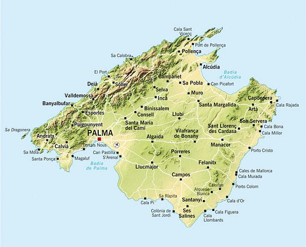 Mallorca Karte Alle Ferienorte Und Strande Mallorca Strande