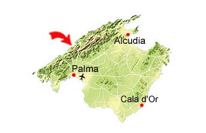 Cala Deia map
