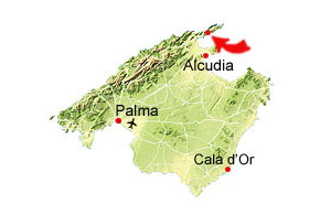 Cala Formentor map