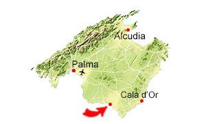 Es Trenc map