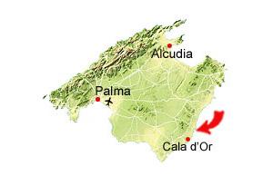 Porto Colom karta