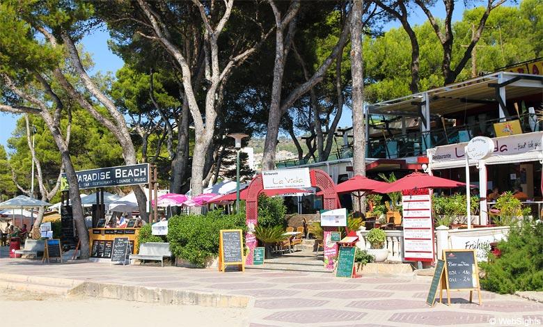 Paguera Restaurant am Strand