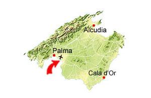 Playa de Palma kort