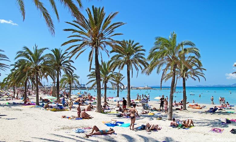 Mallorca Karte Strande.Playa S Arenal Strand El Arenal Mallorca Strande