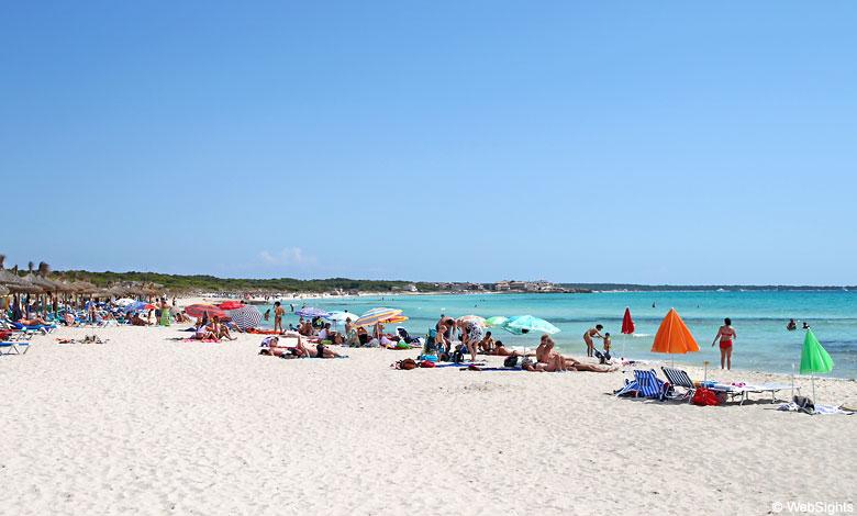 Sa Rapita beach